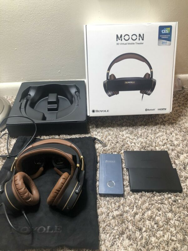 ROYOLE MOON ALL IN ONE 2GB/32GB 3D VR HEADSET HIFI HEADPHONE IMMERSIVE REALITY G