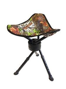 SWIVEL CAMO STOOL SEAT CHAIR PIGEON SHOOTING HIDE ROTATING ...