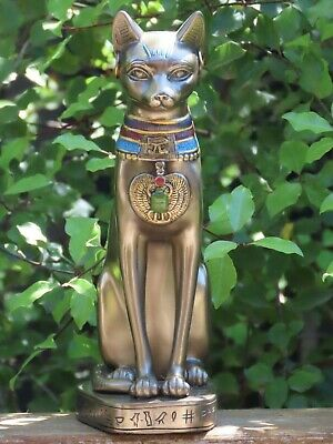 Bastet with Earrings ~ Veronese Collection, 20cm Tall Bronzed Statue