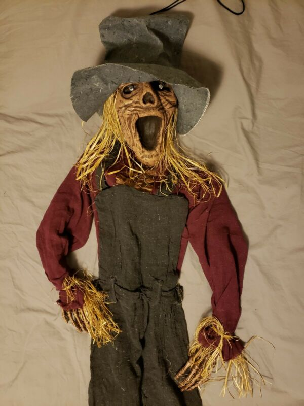 Scarecrow Prop Decoration Hanging Lighted Eyes Halloween 5ft