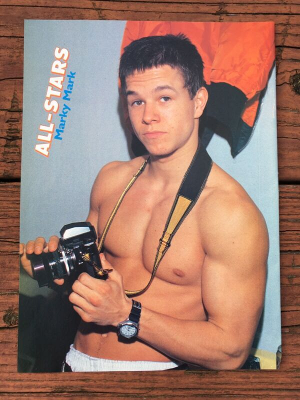 MARK WAHLBERG Marky Mark Tori Spelling Two Sided Magazine Pinup