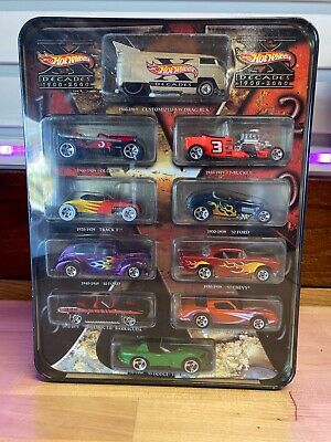 Hot Wheels Target Exclusive Decades 1900-2000 Set of 10 Cars NIB VW Drag Bus