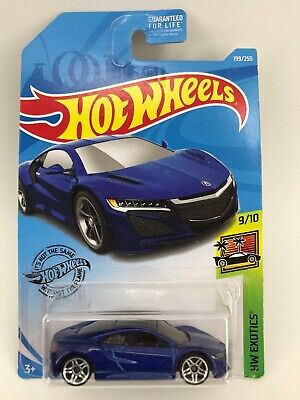 17 Acura NSX #199 Blue 2019 Hot Wheels Case K - SHIPS OUT FAST