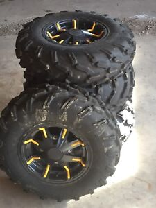 Canam rims and tires