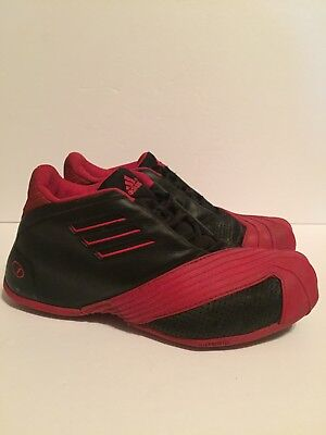 Original 2005 Adidas TMAC1 Tracy Mcgrady Black Red size 8.5 Shoes