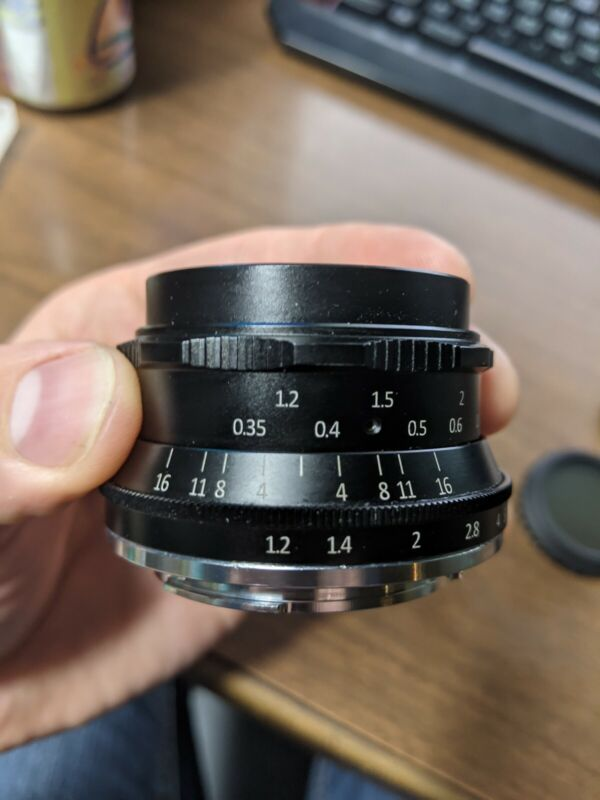7Artisans 35mm F1.2 Lens for Canon EF-M--Mint Condition+Variable ND+Cap w/ leash
