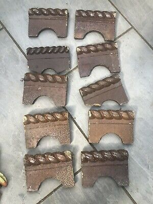 10 Reclaimed Victorian Style Rope Edging / Edge Tiles