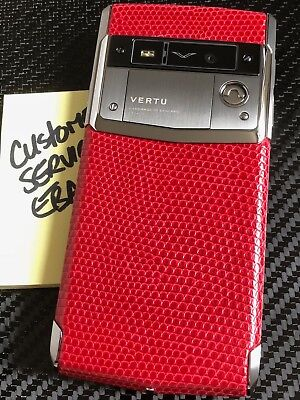 Honest Brand NEW Vertu Signature Touch Scarlet Lizard Extremely RARE Must have!