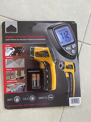 New Nib Tool House Digital Infrared Thermometer Laser Pointer Temperature Temp