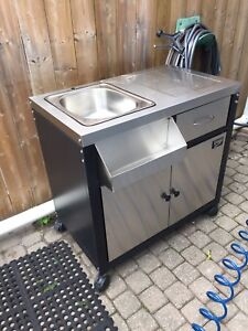 Stainless Steel BBQ Companion Outdoor Sink - New