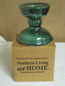 southern living at home gail pittman 2002 studio pottery candle holder