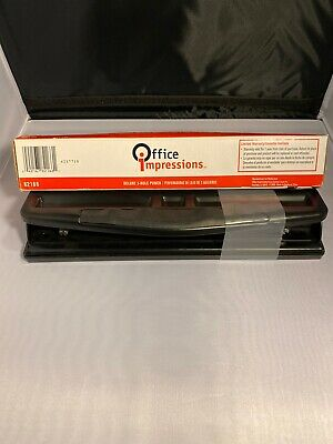 Office Impress 2-3 Hole Adjustable Punch 12 Sheet Capacity New But Open Box