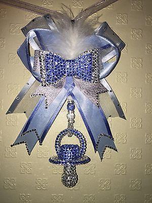 Romany bling crystal dummy pram charm christening gift baby shower ��