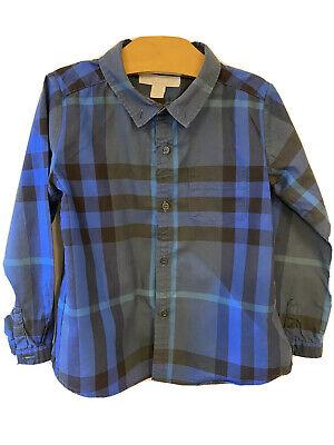 Burberry boys Kids Toddler Button Down Shirt Size3