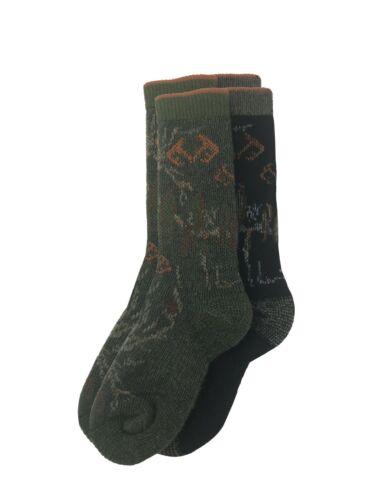 Realtree Youth Boys Merino Wool Blend Camo Boot Socks 2 Pair