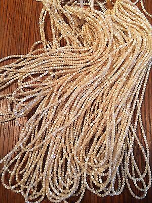 tiny 2mm natural MOP beads