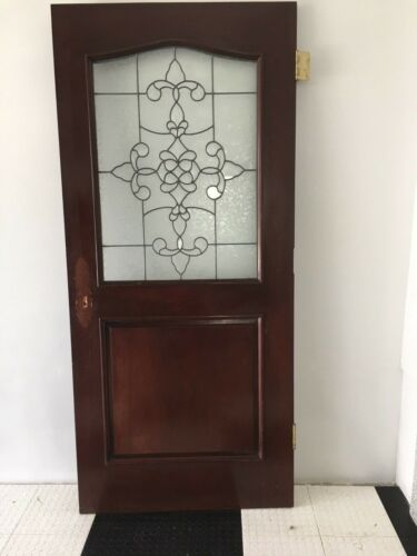 Solid Cherry Exterior/ Interior Door Beveled Glass Gorgeous