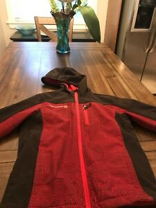 Red and Black Fall Contury Autumn Jacket
