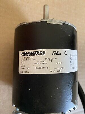 Marathon Hoshizaki 4a3158 -01 Ice Machine Condenser Fan Motor 1600-1350 Rpm 115v
