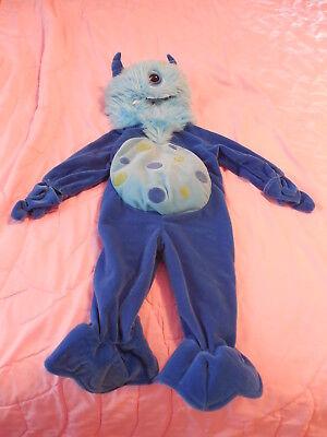 Koala Halloween Costume Baby (New Baby Infant BLUE MONSTER Halloween Costume Koala Kids Hooded Zip Up Size 6M)