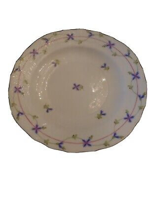 "Herend 7.5"" Salad Plate Blue Garland PBG #1518"