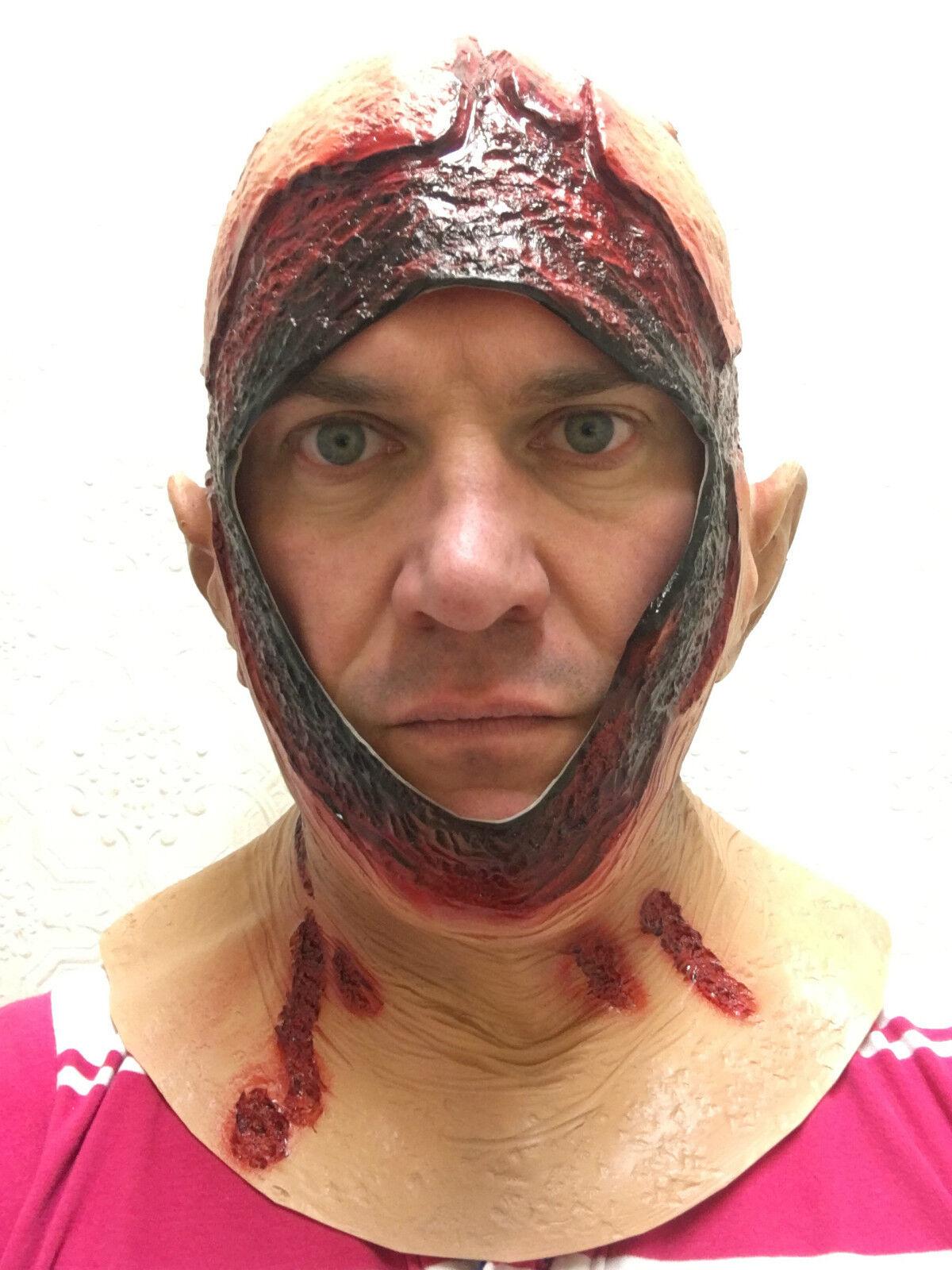 Overhead Jason Bloody Hood Mask Latex Halloween Horror Fancy Dress ...