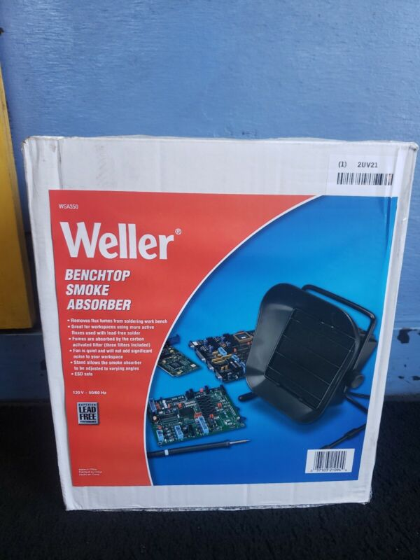 Weller WSA350 Benchtop Solder Smoke Absorber fan,fume extractor remover ESD Safe