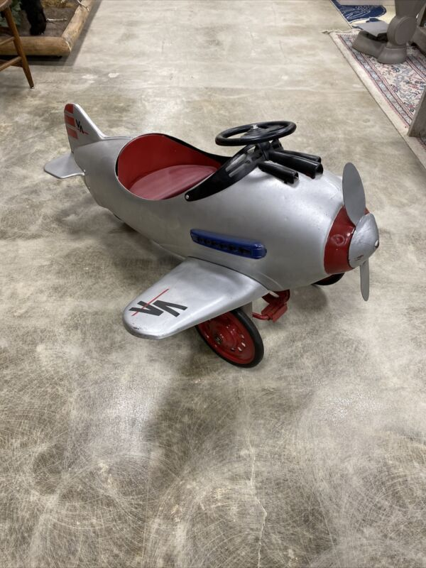 Vintage Murray Steelcraft Pedal Airplane WW2 Era Pedal Fighter Plane