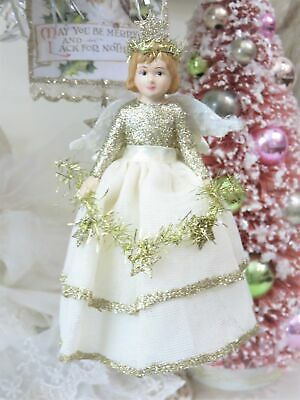 Bethany Lowe Peaceful Storybook Christmas Angel Ornament in Gift Box