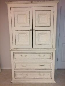 Antique Queen Bed Frame & Armoire