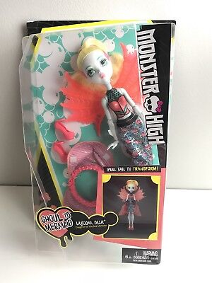 Monster High Lagoona Blue Ghoul To Mermaid Doll Toy Christmas Birthday New