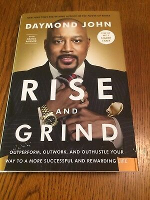 "Daymond John Star of Shark Tank signed copy of his book ""Rise and Grind"""