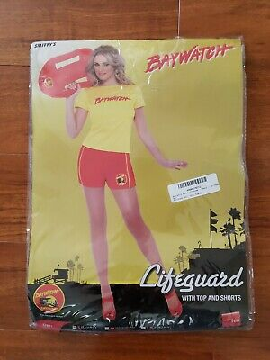 Womens Lifeguard Costume (Baywatch Lifeguard Costume Womens Ladies Sexy Party Fancy Dress)
