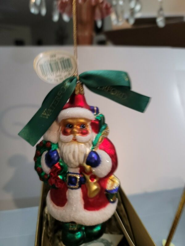 WATERFORD HOLIDAY HEIRLOOM 1998 1ST EDITION SANTA RARE MINT CONDITION BRIGHT