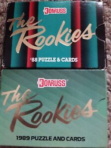 The Rookies 1988 & 1989 puzzle and cards