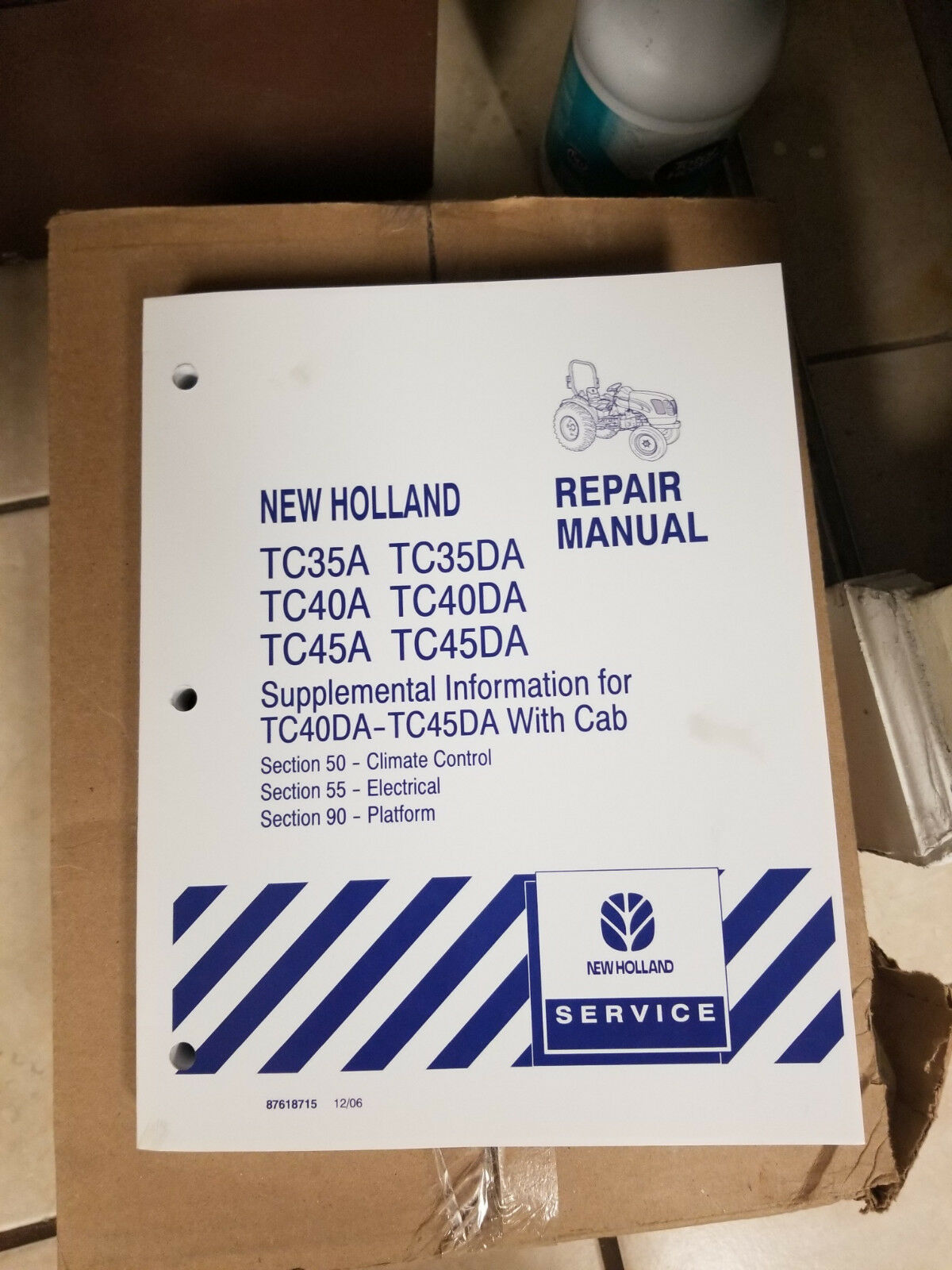 New Holland TC35DA TC45DA TC45D TC40A Tractor Service Repair Manual on
