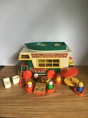 Vintage 1973 Fisher Price Little People 994 Play Family Camper Complete