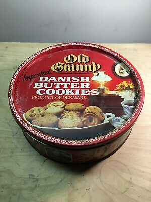 Vintage Old Granny Danish Butter Cookies Tin