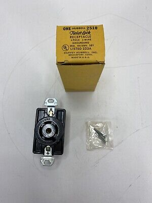 2 Bryant 3520 Non-NEMA Twist Locking Receptacle Outlet 20A 120//208V  4Pole 5Wire