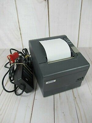 Epson Pos Thermal Receipt Printer Tm-t88iv M129h Tested Good Condition