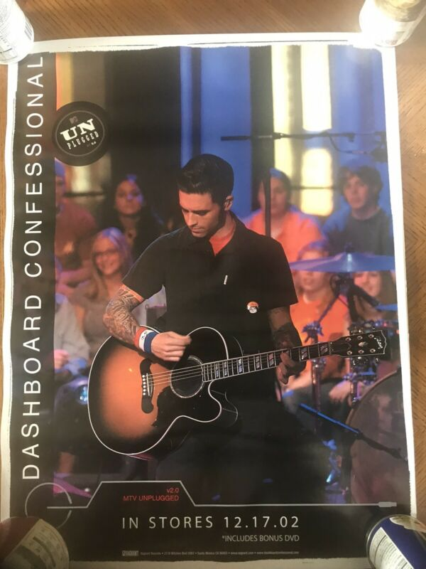 Dashboard Confessional Unplugged Poster 24x18 Carraba Further Seems Forever Emo