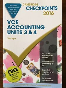 VCE accounting cambridge checkpoints unit 3&4 2016 Beaumaris Bayside Area Preview