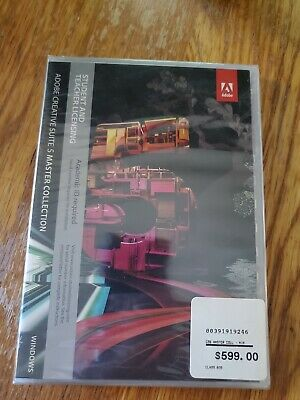 Adobe Creative Suite 5 Master Student Teacher Licensing Windows New Sealed!