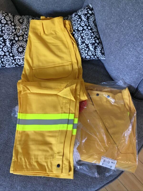 Yellow Wildland Firefighting Pants Westex Ultra Soft Barrier Wear M/32
