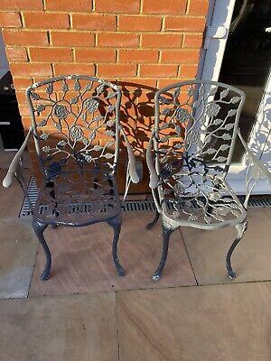 Chairs X2 Cast Aluminium bistro/patio