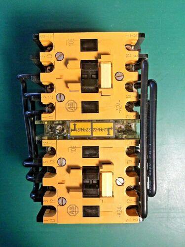 Allen-Bradley 104-A24NJ3 Reversing Contactor 24A 600V, A-B New Surplus 104A24NJ3