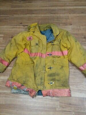Firefighter Jacket Turnout 1990s Morning Pride Fire Damaged F12