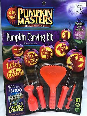 New Pumpkin Masters Pumpkin Carving Kit 10 Patterns Halloween 3 Saw 1 scooper - New Halloween Pumpkin Carving Patterns