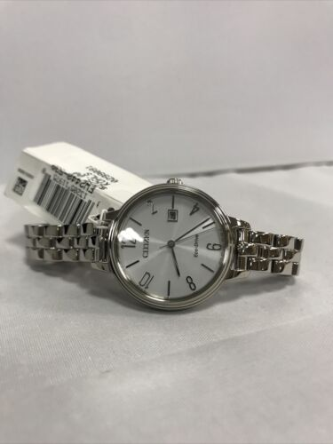 CITIZEN Eco-Drive Stainless Steel Women s CHANDLER Watch - EW2440-53A MSRP 225 - $40.00