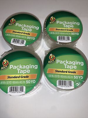 4 Rolls Clear Duck Packaging Packing Carton Shipping Tape 1.88 X 50 Yards